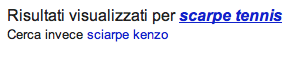 Google suggestion for Kenzo scarves