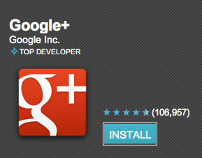 GooglePlus mobile app for android