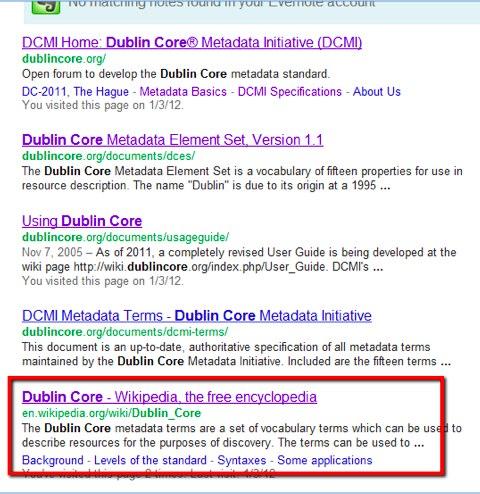 Risultati per Dublin Core