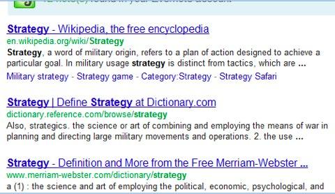 Risultati per strategy