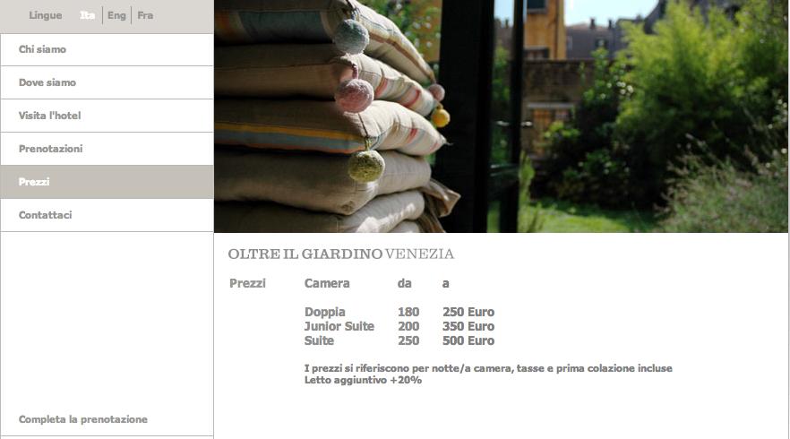 Hotel 39 oltre il giardino 39 a venezia vorrei aiutarti cos - Oltre il giardino venice ...